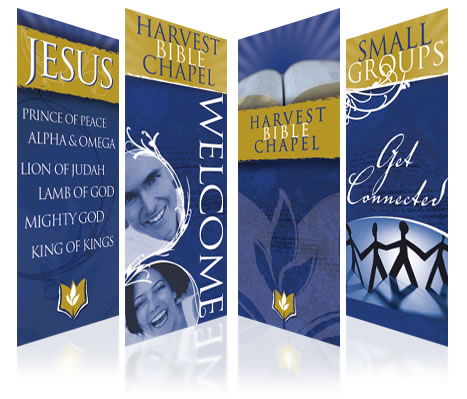 custom set of worship banners
