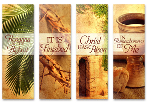 Easter Banners set of 4