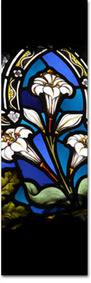 easter lillies stained glass
