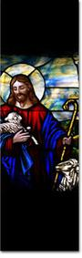 easter good shepherd stained glass